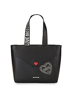 Love Moschino - Logo Faux Leather Shoulder Bag