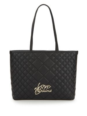 Love Moschino Leathers Love Quilted Tote