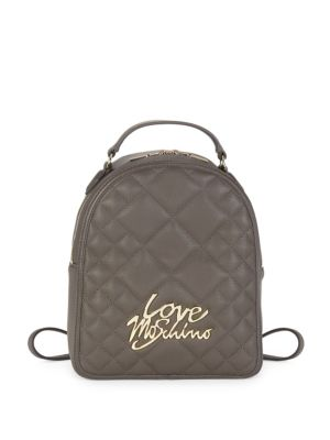 Love Moschino Leathers Quilted Love Backpack