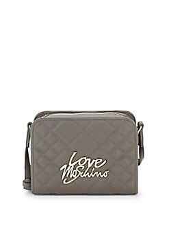 Love Moschino - Quilted Faux Leather Crossbody Bag