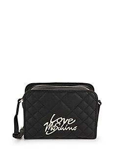 Love Moschino - Quilted Faux Leather Shoulder Bag