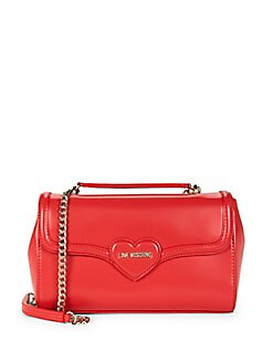 Love Moschino - Heart Faux Leather Shoulder Bag
