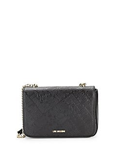 Love Moschino - Embossed Faux Leather Logo Crossbody Bag