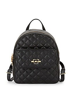 Love Moschino - Quilted Faux Leather Backpack