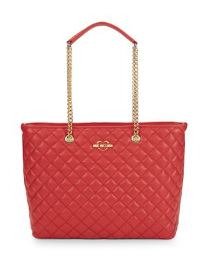 Love Moschino Leathers Quilted Tote Bag