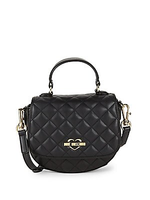 bdad4d9534d9 Love Moschino - Quilted Mini Faux Leather Crossbody Bag - saksoff5th.com