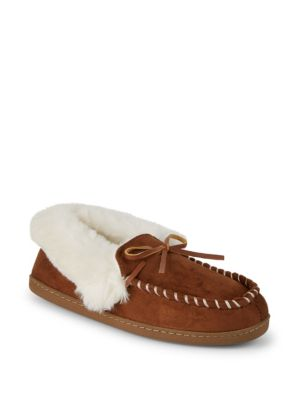 Saks Fifth Avenue COCO FAUX FUR SLIPPERS