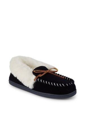 SAKS FIFTH AVENUE Slippers Yuma Faux Fur Slippers