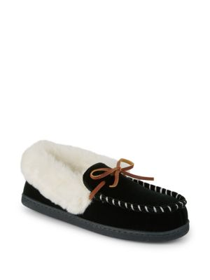 Saks Fifth Avenue Yuma Faux Fur Slippers