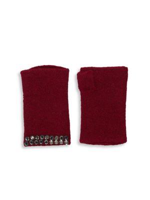Portolano Gloves Embellished Cashmere Fingerless Gloves