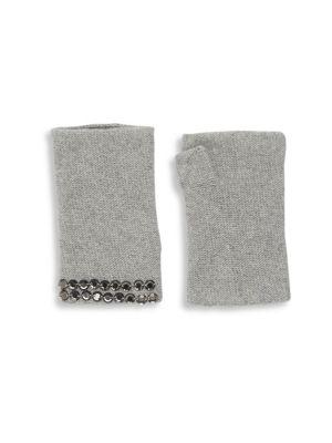 PORTOLANO Embellished Cashmere Fingerless Gloves