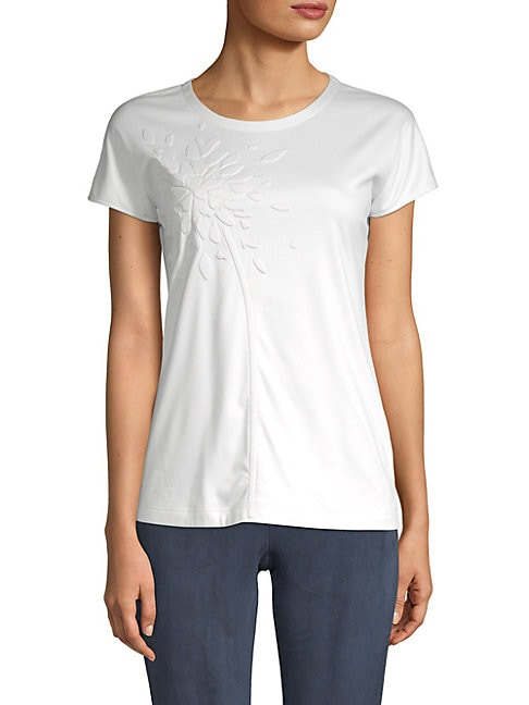Embossed Graphic Cotton Top