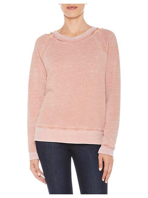 Joe's Distressed Cutout Sweatshirt