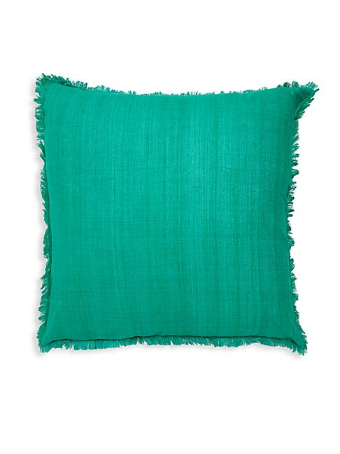 FRAYED SILK PILLOW