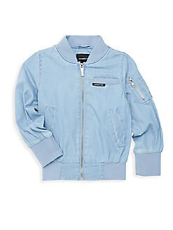 Members Only - Little Girl's Chambray Bomber Jacket