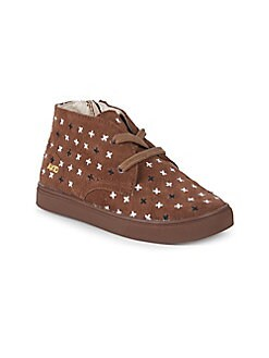 Akid - Little Girl's & Girl's Knight Plus Sign Suede Chukka Sneakers