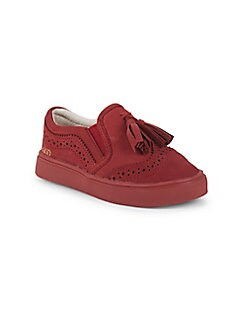 Akid - Little Girl's & Girl's Liv Brogue Leather Tassel Loafers