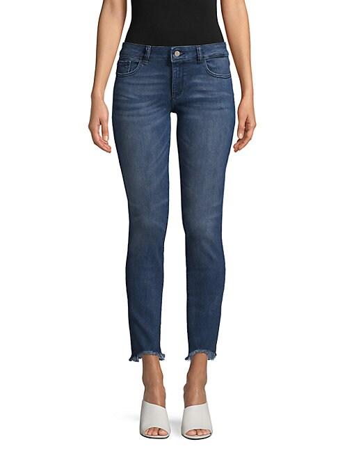 DL PREMIUM DENIM | Emma Power Ankle Jeans | Goxip