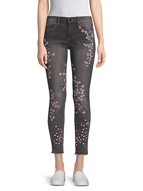 Jackie Embroidered Skinny Jeans