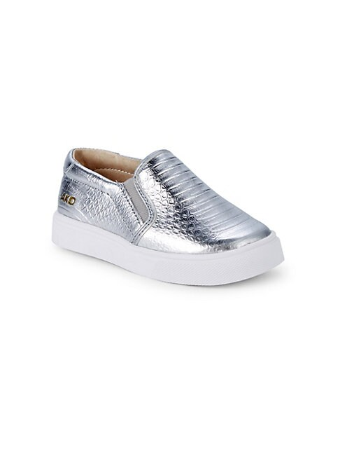AKID Little Girl'S & Girl'S Liv Embossed Leather Slip-On Sneakers