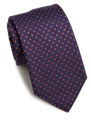 Eton Floral Embroidered Silk Tie