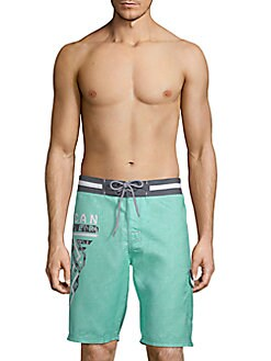 American Fighter - Crossroads Drawstring Board Shorts