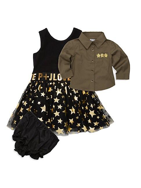 Baby Girls TwoPiece Shirt  Dress Set