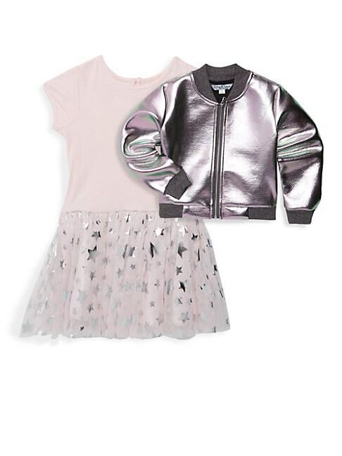 Baby Girls TwoPiece Bomber  Dress Set