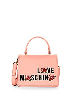 Love Moschino - Floral Faux Leather Crossbody Bag