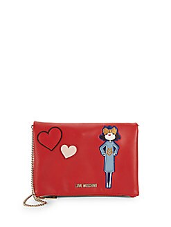 Love Moschino - Faux Leather Convertible Clutch