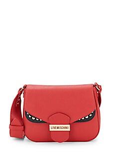 Love Moschino - Textured Leather Crossbody Bag