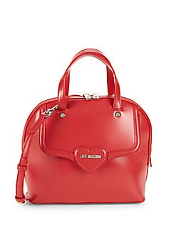 Love Moschino - Heart Faux Leather Top Handle Bag