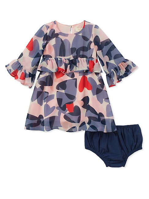 Baby Girls TwoPiece Confetti Hearts Dress and Panty Set