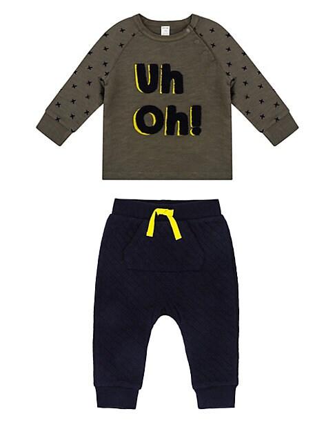 Baby Boys Monster Uh Oh TwoPiece Sweatshirt  Jogger Pants Set