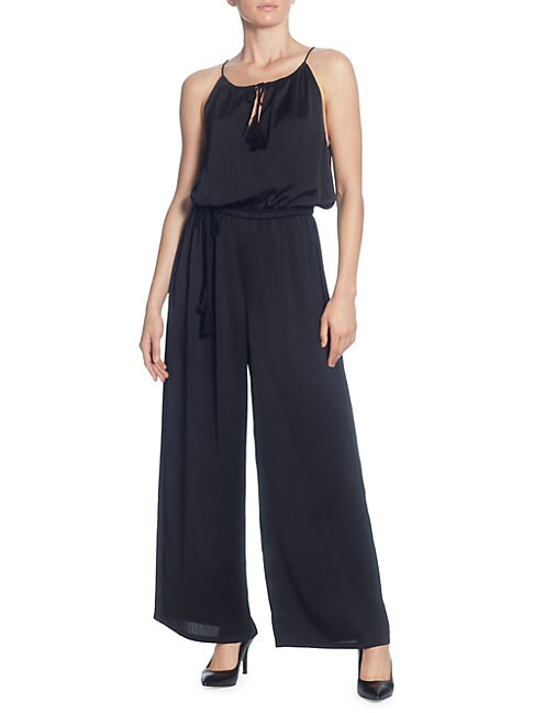 CATHERINE CATHERINE MALANDRINO Sleeveless Wide-Leg Jumpsuit in Black