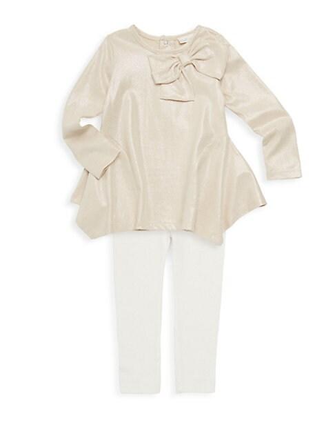 MINICLASIX Baby Girl'S Two-Piece Cotton Top & Leggings Set