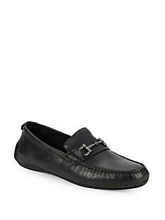 콜한 서머셋 드라이빙 슈즈 Cole Haan Somerset Crinked Leather Driving Loafers,BLACK