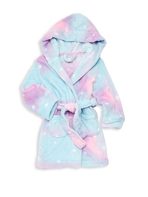 Little Girl's & Girl's Hooded Plush Robe