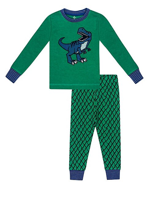 Little Boy's Two-Piece Dino Pajama Set