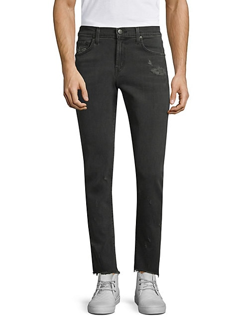 Tyler Tapered Slim-Fit Ripped Jeans