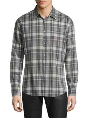 John Varvatos Downs Plaid Button-Down Shirt