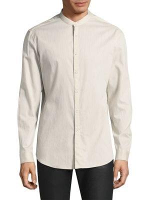 John Varvatos Downs Pinstripe Slim-Fit Button-Down Shirt