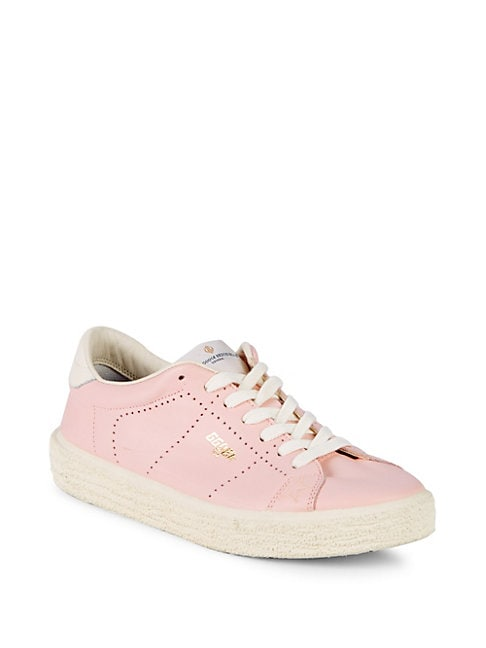 Perforated Leather Tennis Sneakers