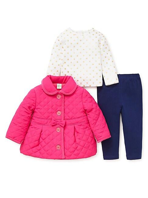 Baby Girls ThreePiece Jacket Top and Legging Set