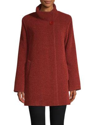 Cinzia Rocca Textured Stand Collar Coat