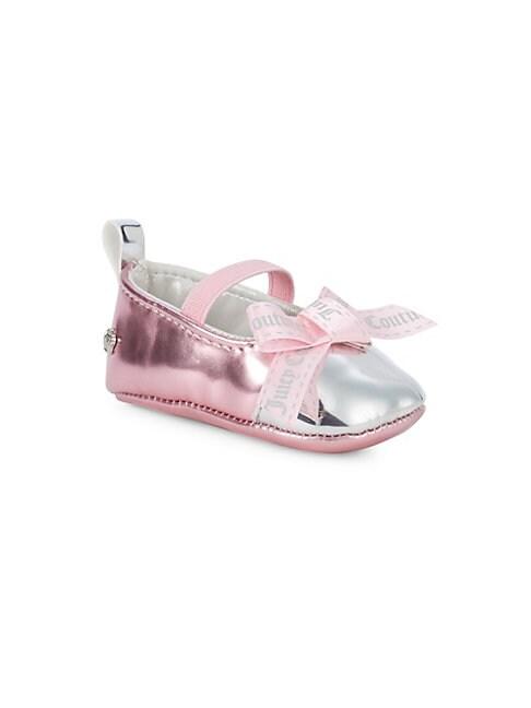 Baby Girls Metallic Bow Ballet Flats