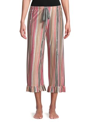 Josie Striped Ruffle Pajama Pants