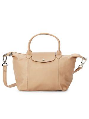 Longchamp Leathers Le Pliage Cuir Leather Top Handle Bag