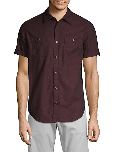 Short Sleeve Corduroy Shirt