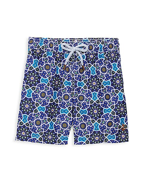 Boy's Almeria Print Swim Trunks